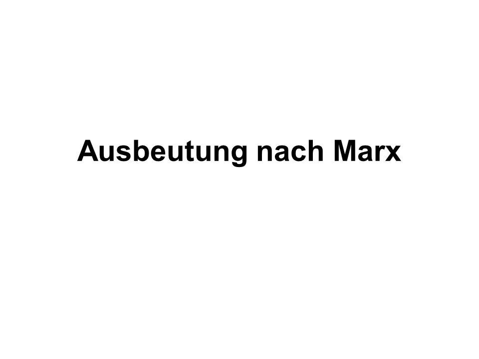 Ausbeutung nach Marx