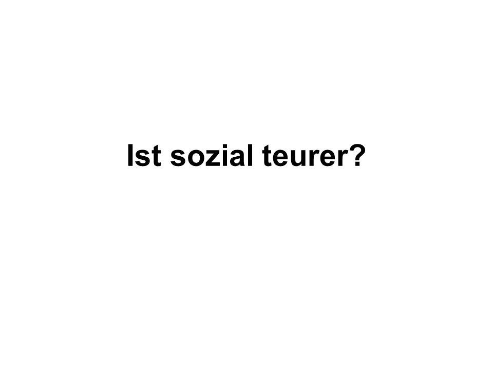 Ist sozial teurer?
