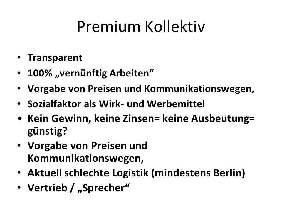 """Transparent 100% """"vernünftig Arbeiten"""" Vorgabe von Preisen und Kommunikationswegen, Sozialfaktor als Wirk- und Werbemittel Kein Gewinn, keine Zinsen="""