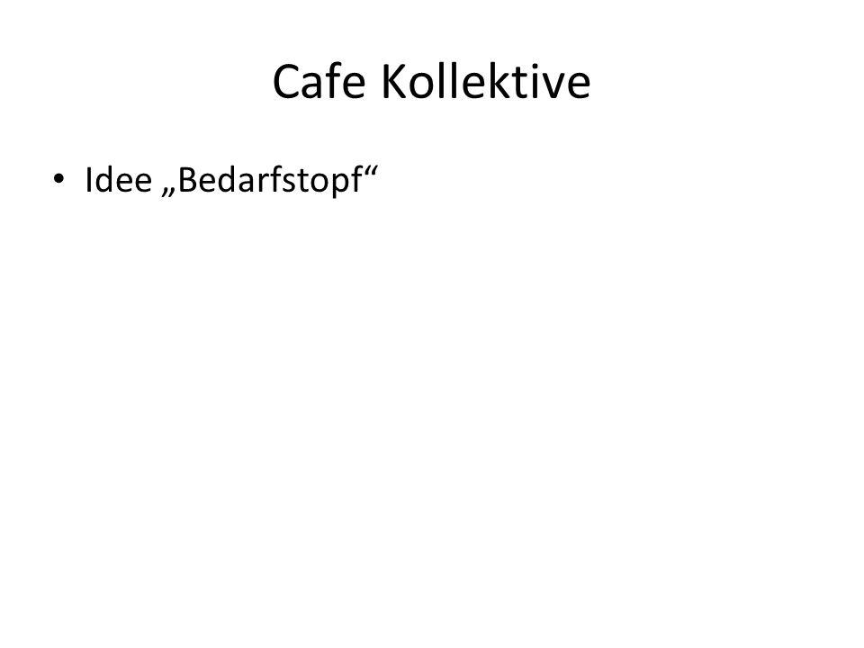 """Cafe Kollektive Idee """"Bedarfstopf"""""""
