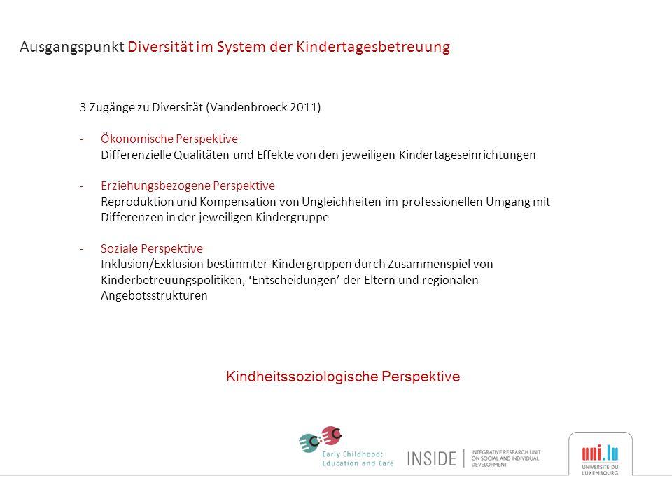 Type of care arrangement hauptsächlich gesprochene Sprachen in ECEC-settings Luxemburgisch single care arrangement incl.