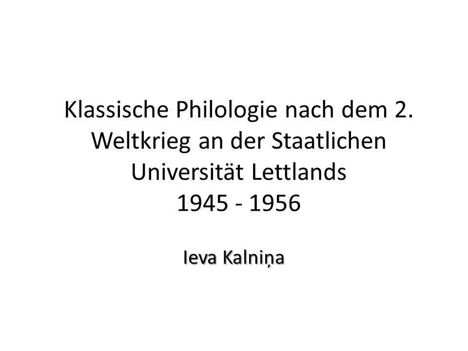 Klassische Philologie nach dem 2.