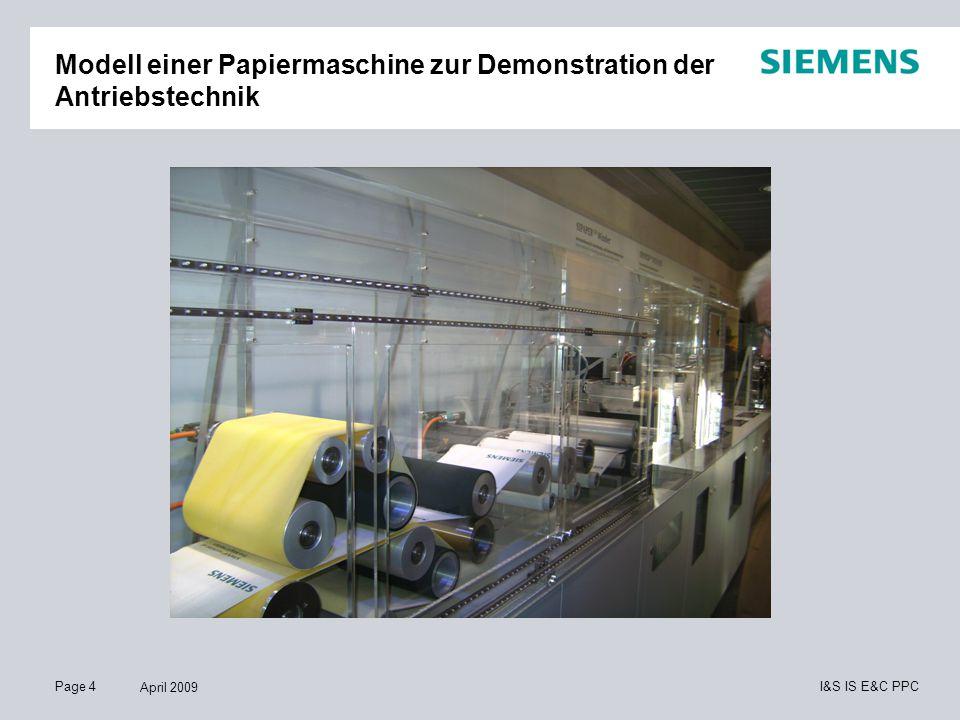 Page 5 April 2009 I&S IS E&C PPC Teilansicht Abwasserbecken mit Membranfilter, Sitrans Probe LU und Sitrans FM MAG 6000