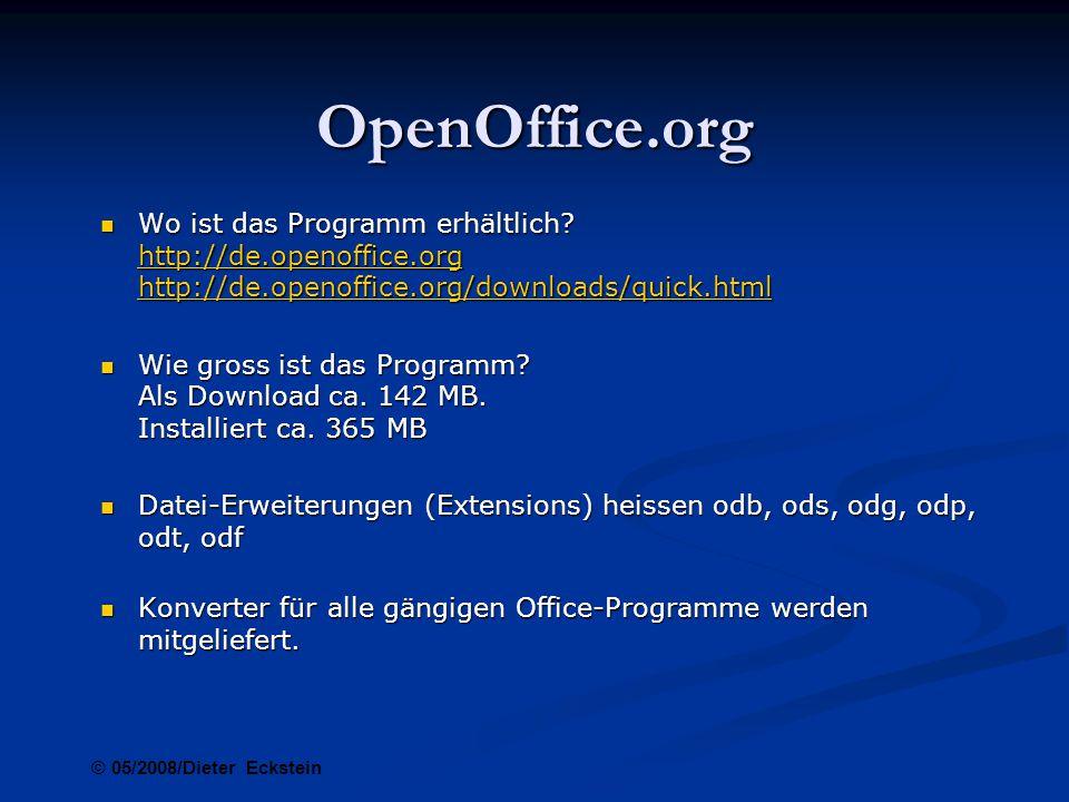 OpenOffice.org Welche Programme sind in der vollständigen Installation enthalten.