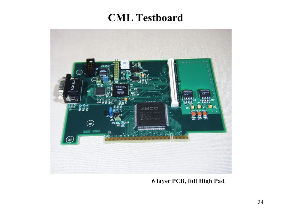 34 CML Testboard 6 layer PCB, full High Pad