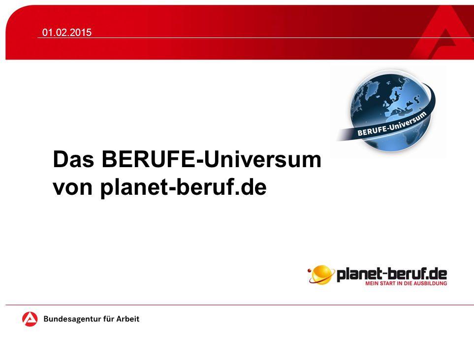 Das BERUFE-Universum von planet-beruf.de 01.02.2015