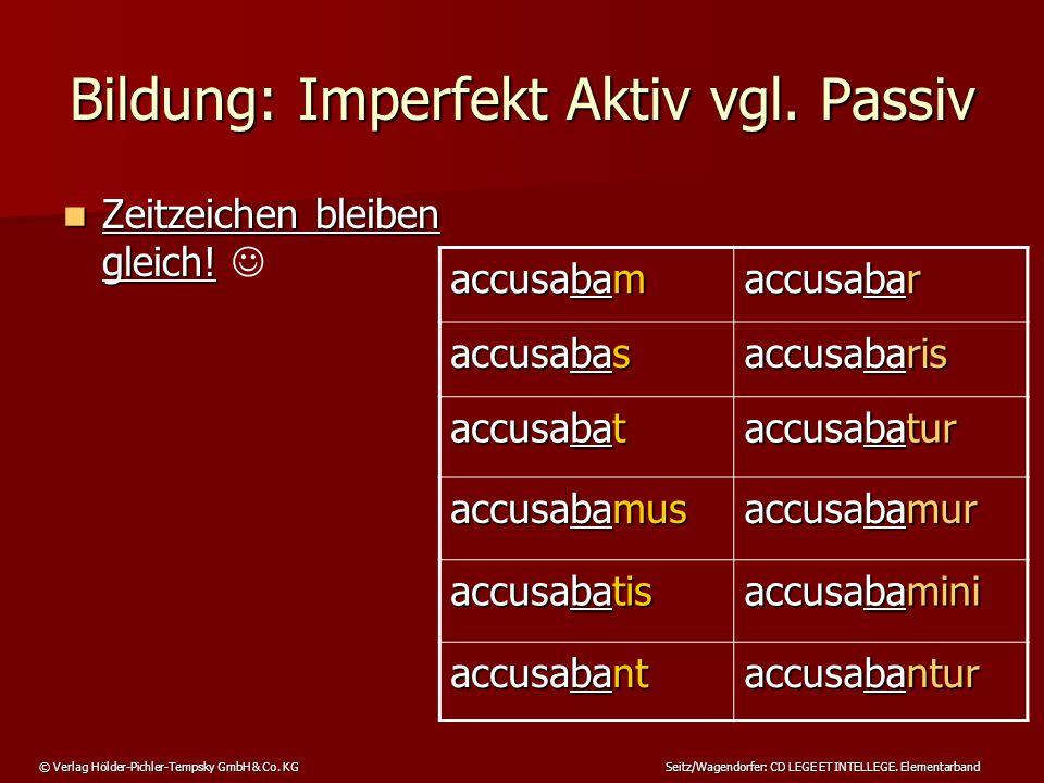 © Verlag Hölder-Pichler-Tempsky GmbH & Co. KG Seitz/Wagendorfer: CD LEGE ET INTELLEGE. Elementarband Bildung: Imperfekt Aktiv vgl. Passiv Zeitzeichen