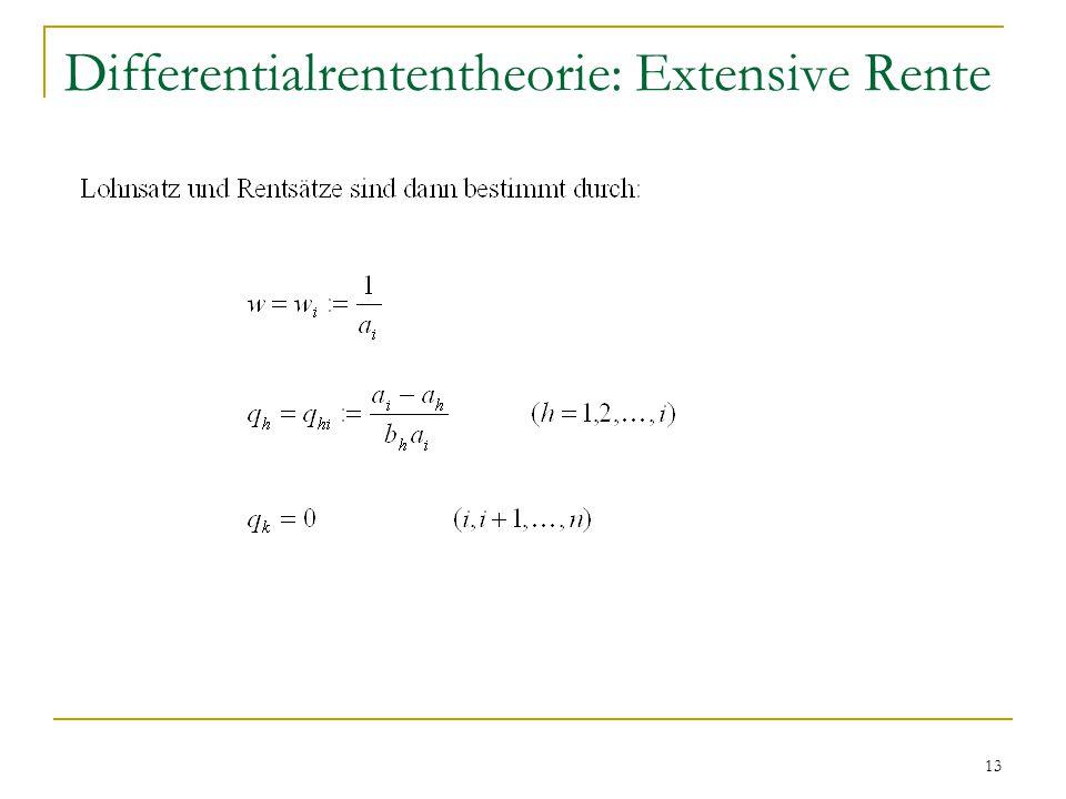 13 Differentialrententheorie: Extensive Rente
