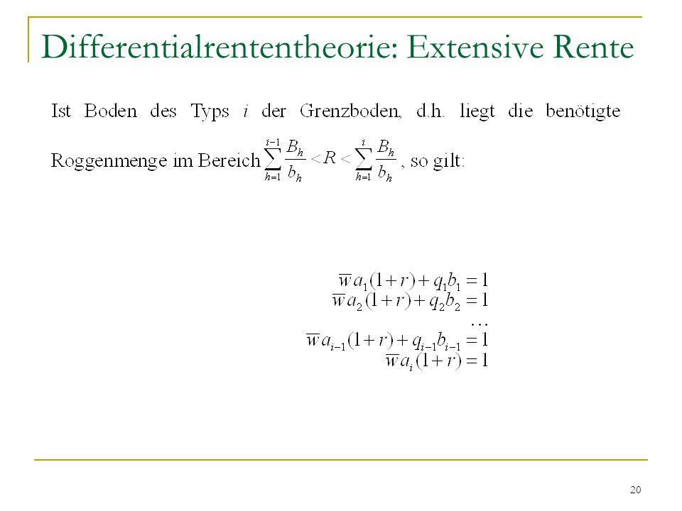 20 Differentialrententheorie: Extensive Rente