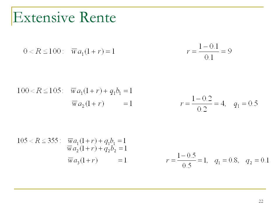 22 Extensive Rente