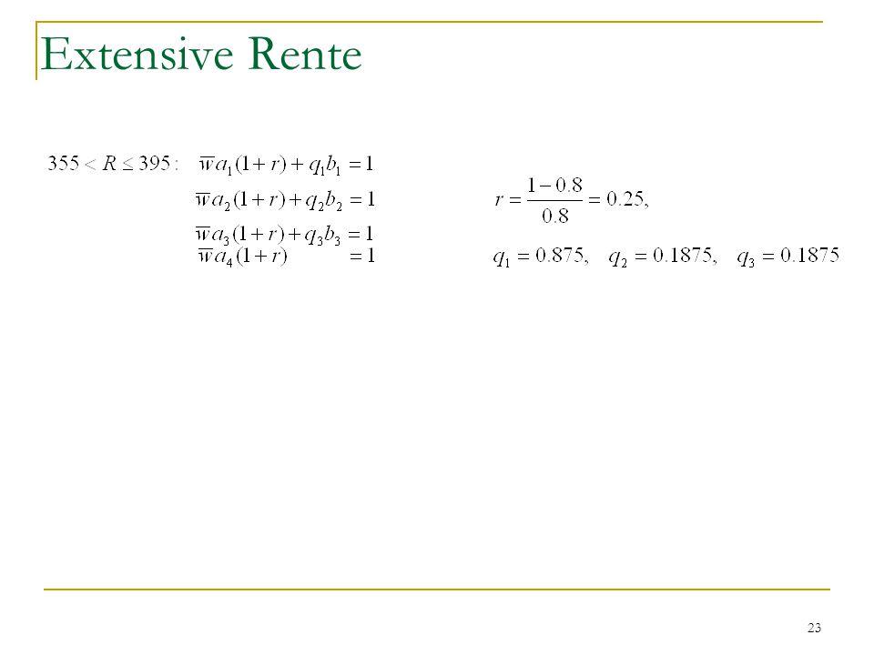 23 Extensive Rente