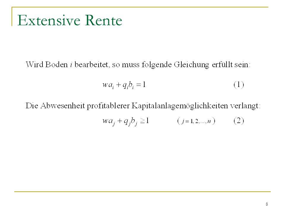19 Differentialrententheorie: Extensive Rente