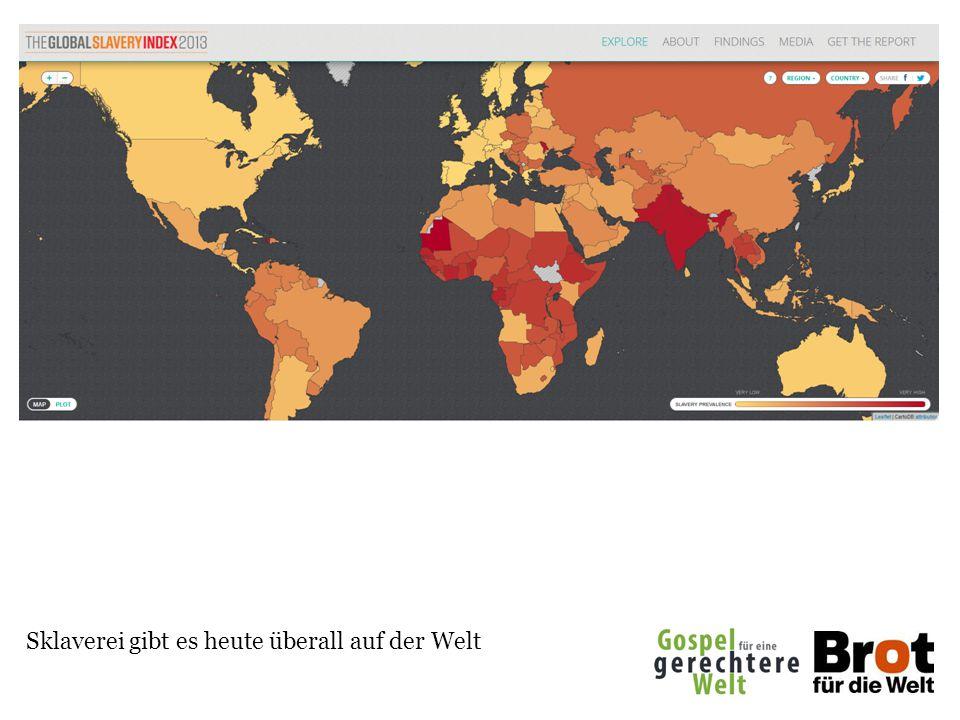 Sklaverei gibt es heute überall auf der Welt