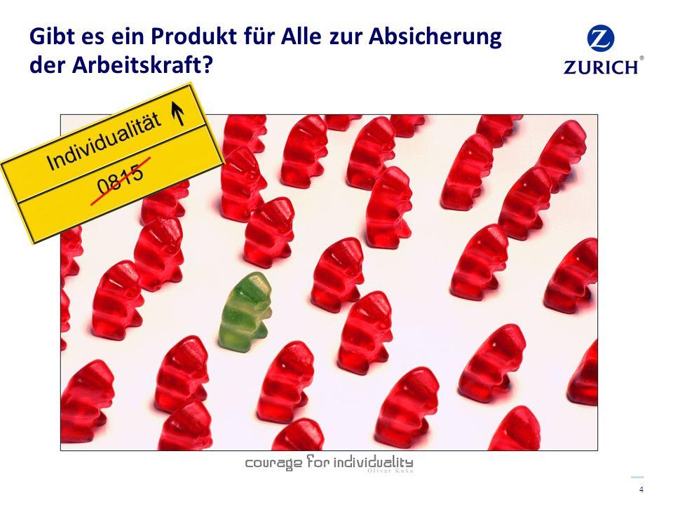 4 Gibt es ein Produkt für Alle zur Absicherung der Arbeitskraft?