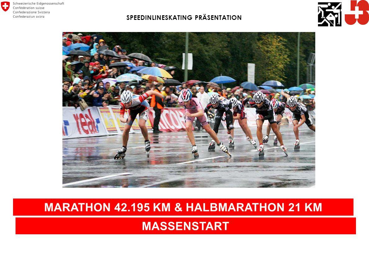 MARATHON 42.195 KM & HALBMARATHON 21 KM MASSENSTART SPEEDINLINESKATING PRÄSENTATION