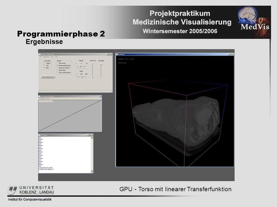 Programmierphase 2 Ergebnisse GPU - Torso mit linearer Transferfunktion
