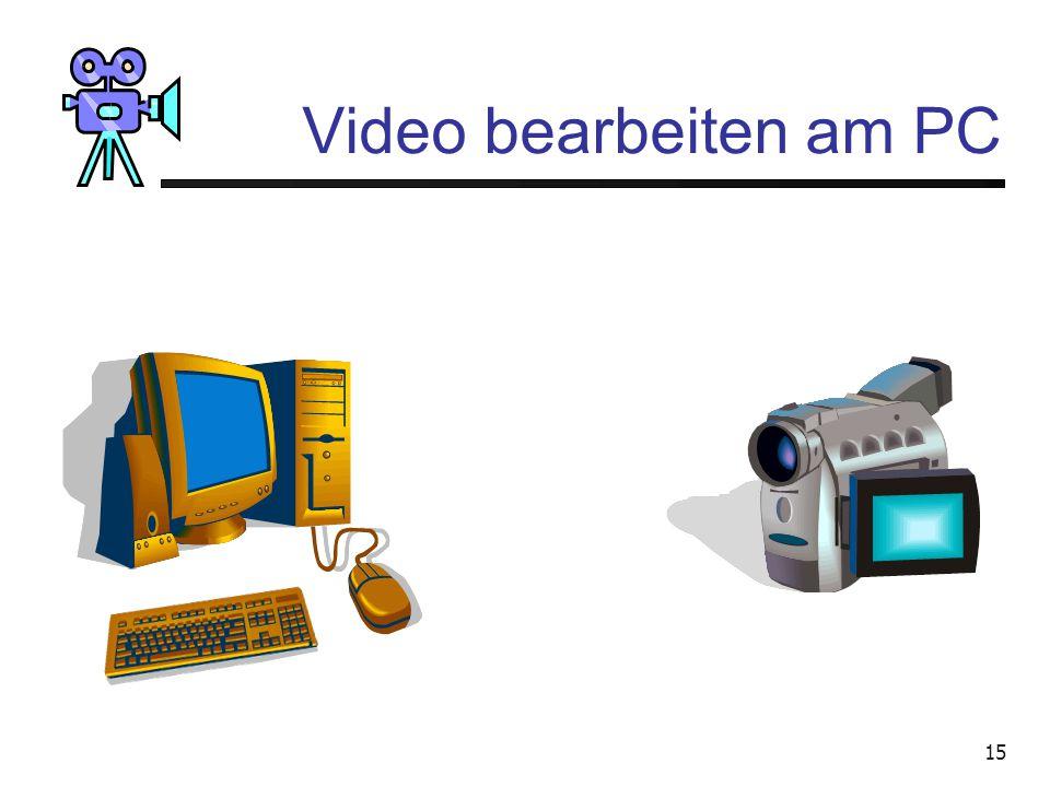 14 Video bearbeiten am PC VideokameraVHS-Recorder Mischer