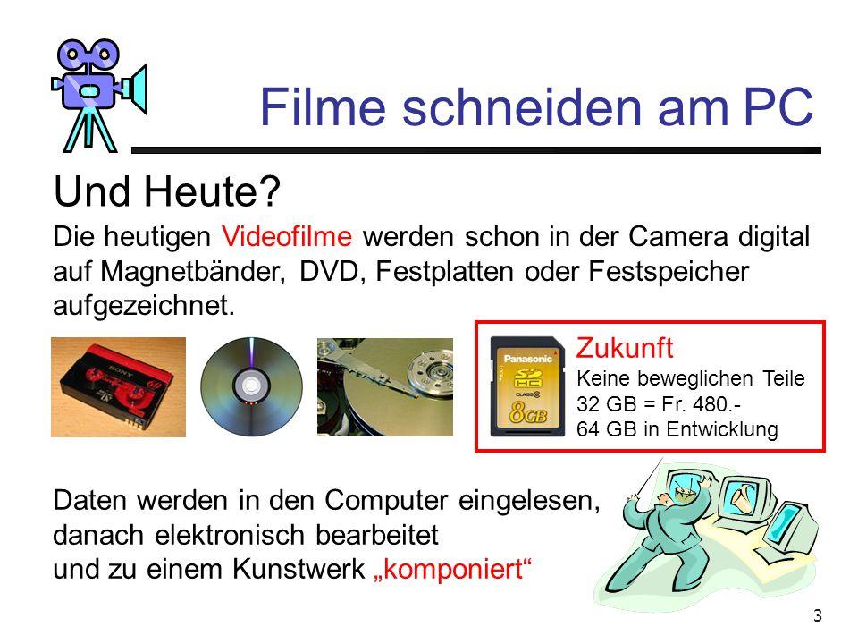 3 Filme schneiden am PC Und Heute.