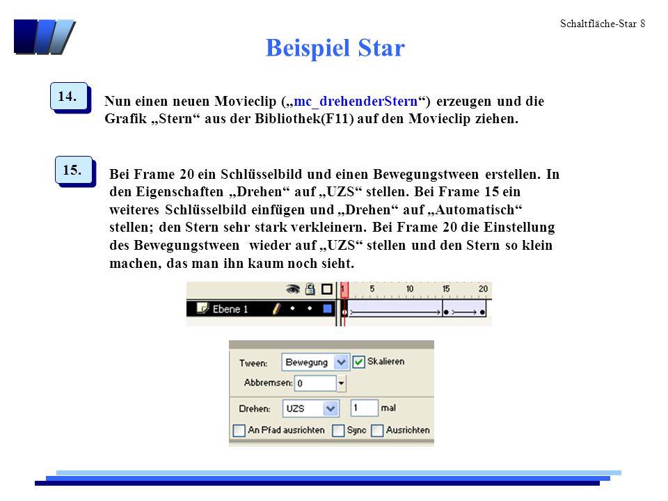 Schaltfläche-Star 9 Beispiel Star 16.