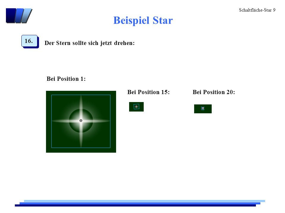 Schaltfläche-Star 10 Screenshot des drehenden Sterns:
