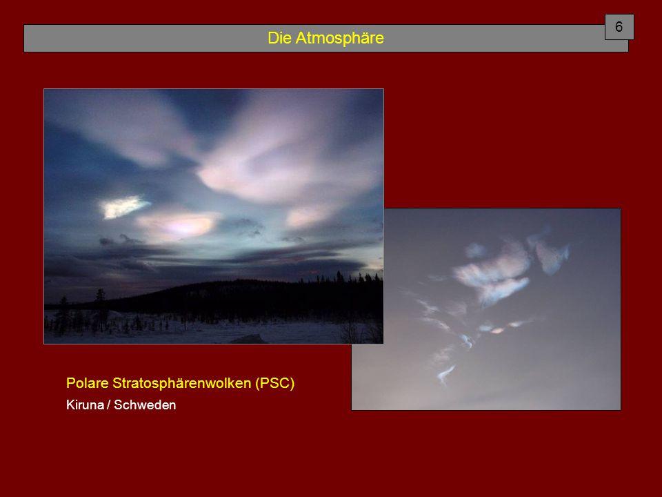 Die Atmosphäre Chapman - Reaktionen (Gleichgewicht) 7 Erdgeschichtliche Ozonbildung: Folge der O 2 -Freisetzung zw.