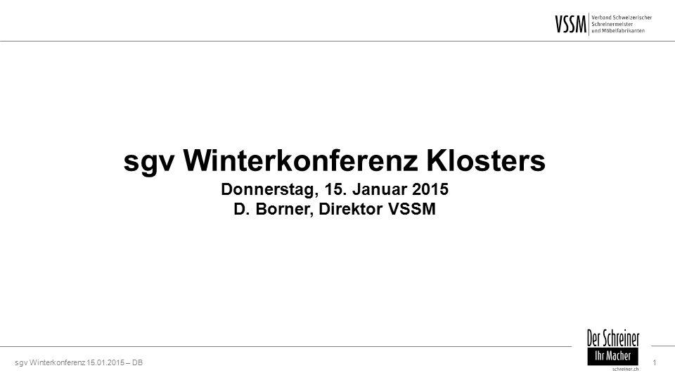 sgv Winterkonferenz 15.01.2015 – DB1 sgv Winterkonferenz Klosters Donnerstag, 15.