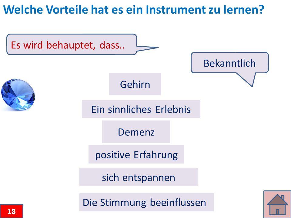 Welche Vorteile hat es ein Instrument zu lernen.