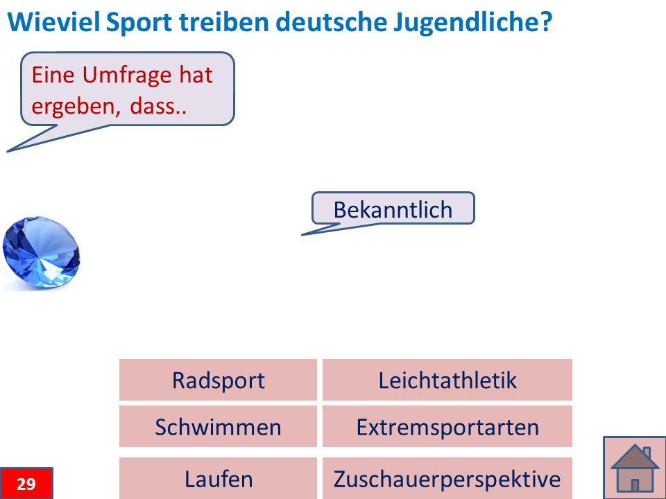 Wieviel Sport treiben deutsche Jugendliche.