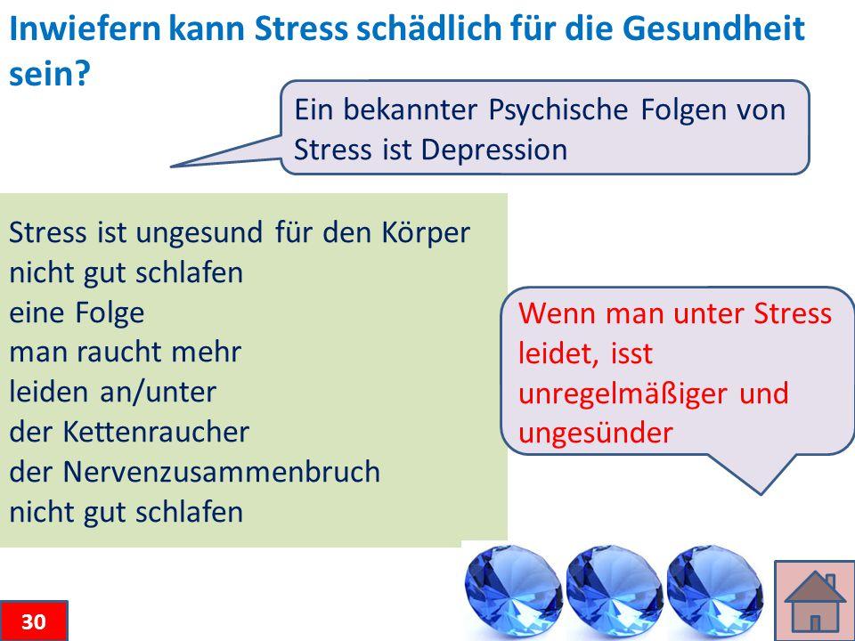 Inwiefern kann Stress schädlich für die Gesundheit sein.