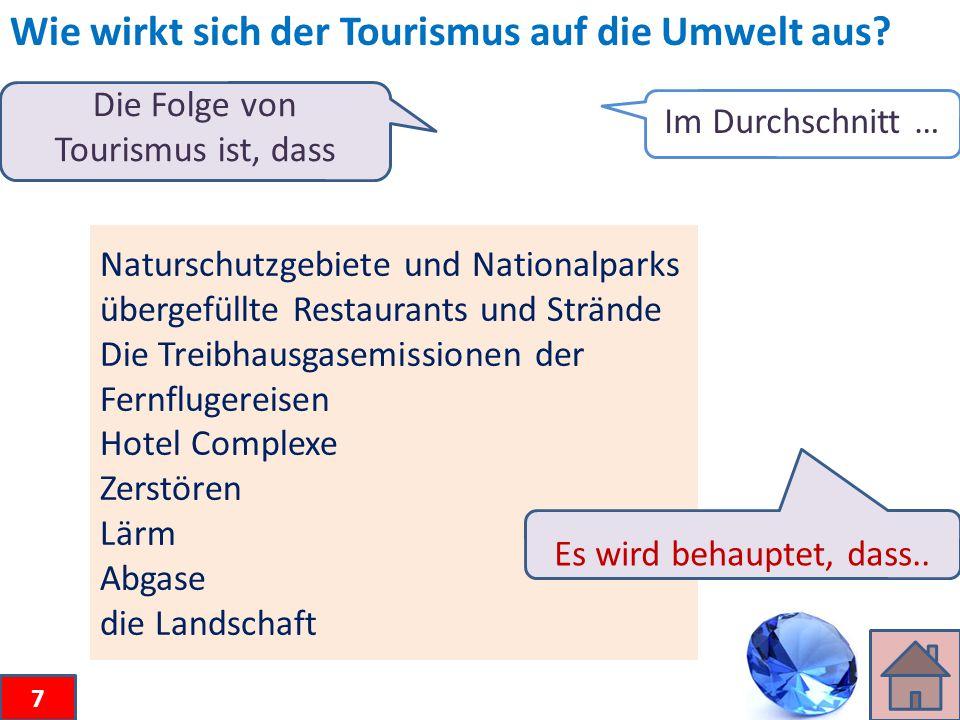 Wie wirkt sich der Tourismus auf die Umwelt aus.