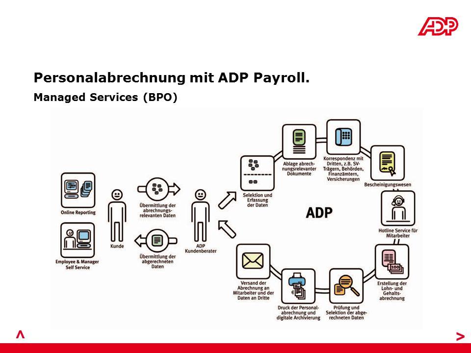 Personalabrechnung mit ADP Payroll. > Managed Services (BPO) >