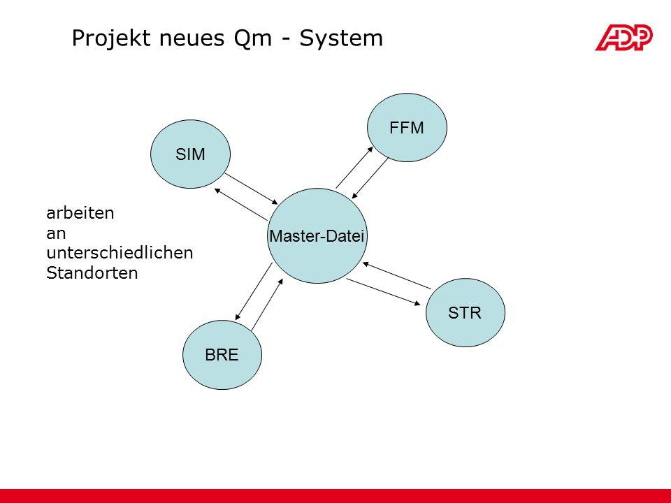Master-Datei SIM FFM STR BRE Projekt neues Qm - System arbeiten an unterschiedlichen Standorten