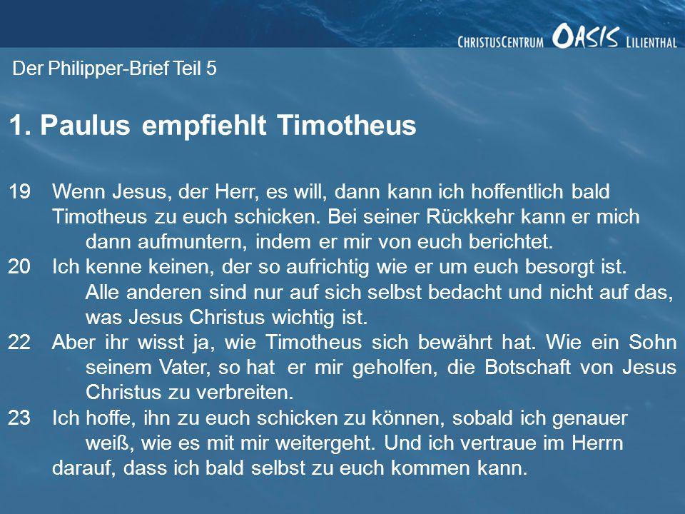 Der Philipper-Brief Teil 5 1.