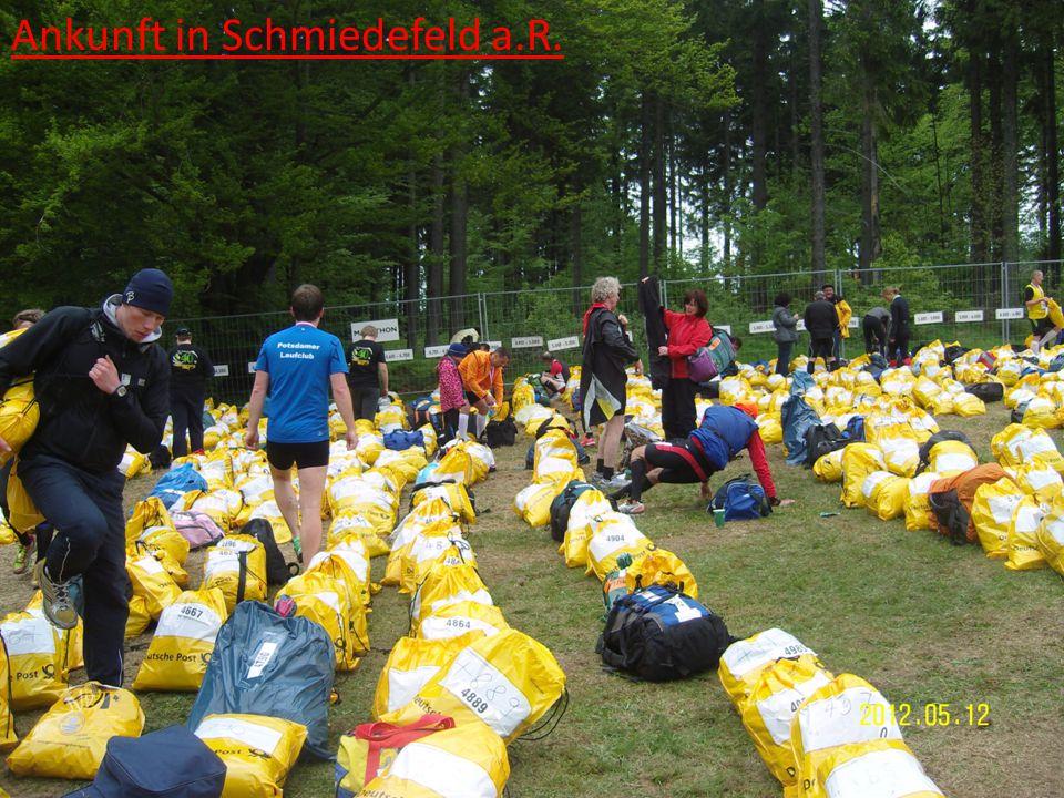 Ankunft in Schmiedefeld a.R.