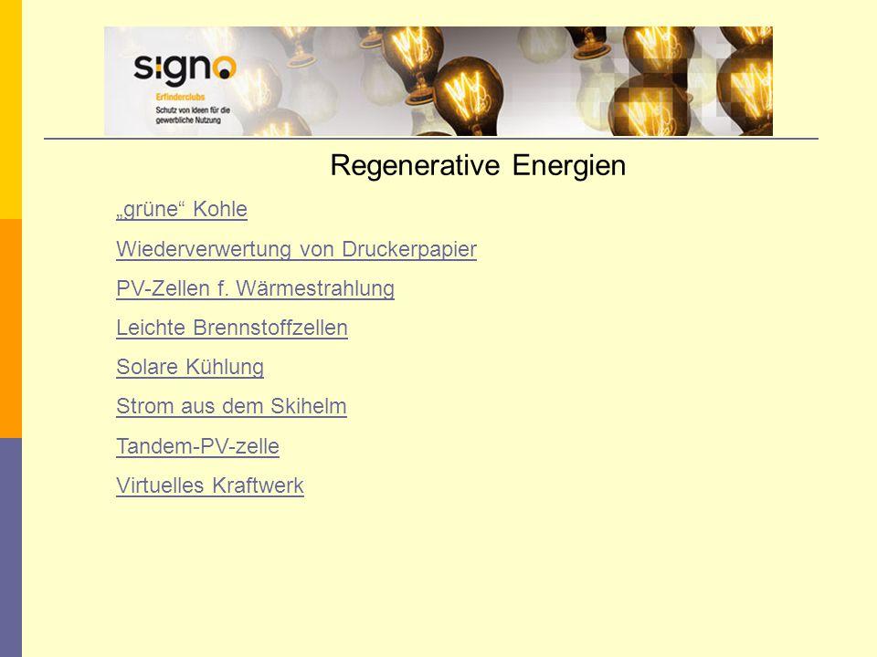 """Regenerative Energien """"grüne Kohle Wiederverwertung von Druckerpapier PV-Zellen f."""