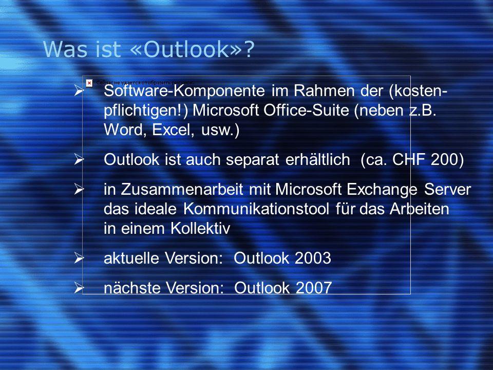 Was kann «Outlook».
