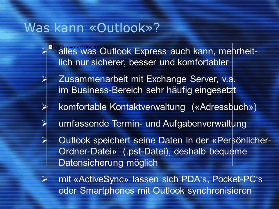 Outlook Express vs. Outlook (1)
