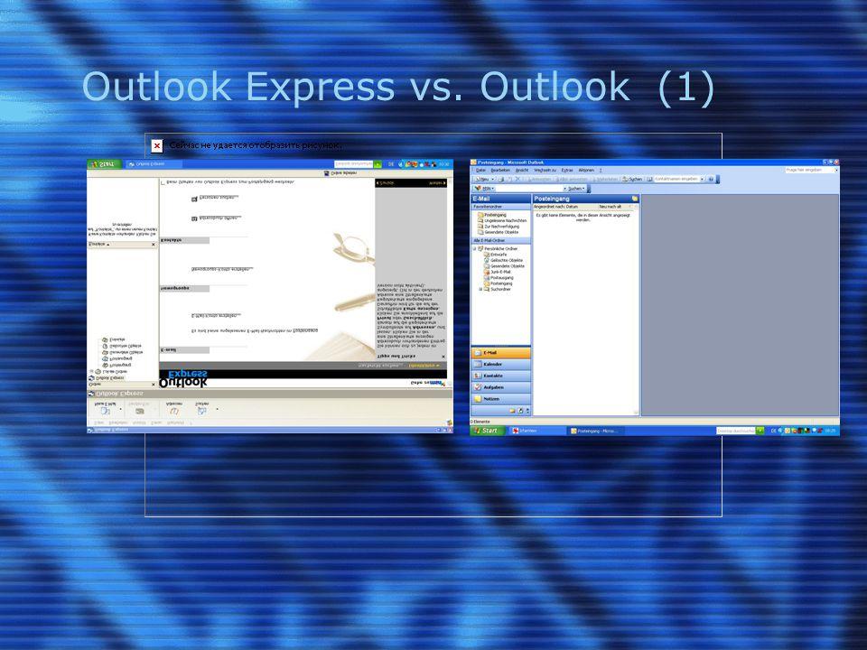 Outlook Express vs.