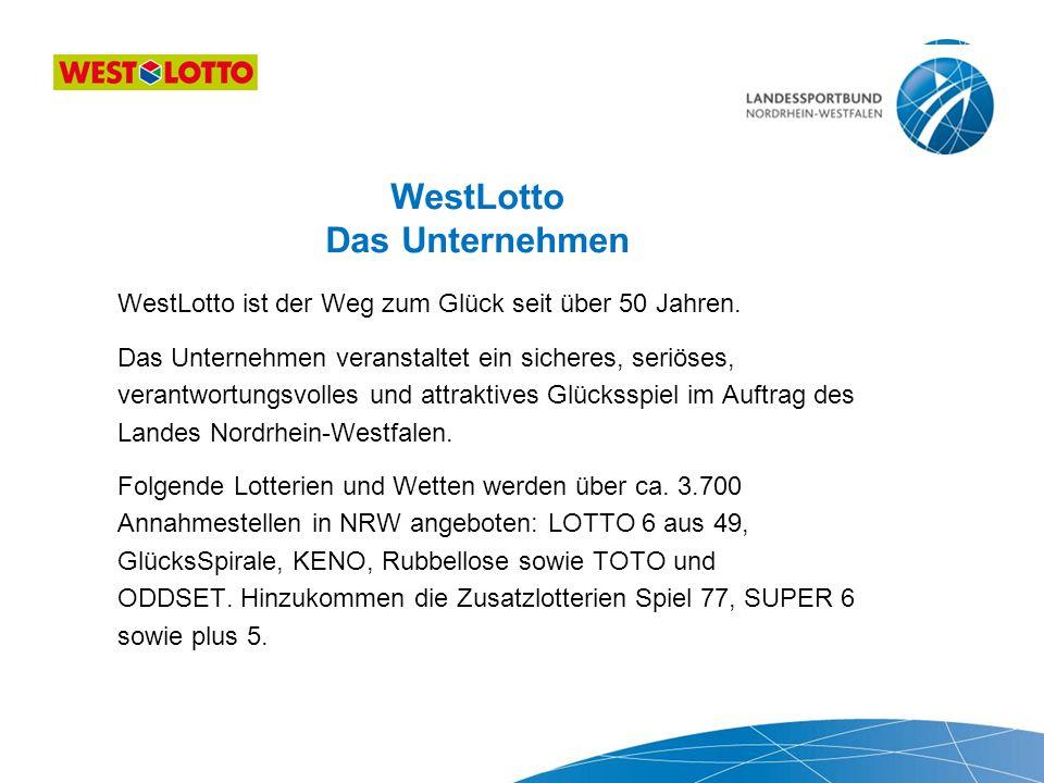 Was leistet WestLotto für den Sport.