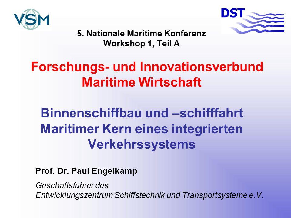 Binnenschiffbau und –schifffahrt Maritimer Kern eines integrierten Verkehrssystems -Verkehrsaufkommen der Binnenschifffahrt:rd.