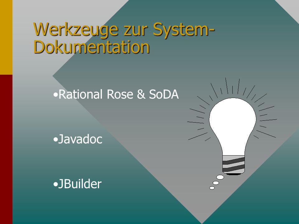 Systemdokumentation Warum ist System-Dokumentation notwendig Warum ist System-Dokumentation notwendig.