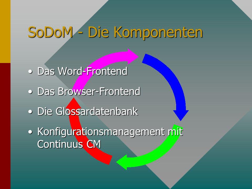 Projektdokumentation Das Vorgehensmodell VM-BasisDas Vorgehensmodell VM-Basis Projektdokumentation mit SoDoMProjektdokumentation mit SoDoM