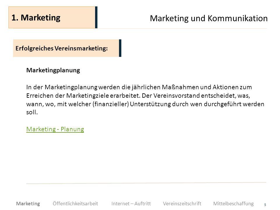 Marketing und Kommunikation 16 Der Medienverantwortliche hat bei seiner Arbeit die Grundanforderungen an Medienarbeit zu erfüllen.
