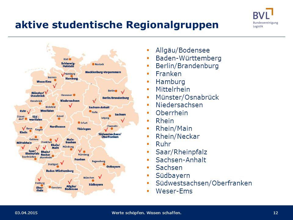  Allgäu/Bodensee  Baden-Württemberg  Berlin/Brandenburg  Franken  Hamburg  Mittelrhein  Münster/Osnabrück  Niedersachsen  Oberrhein  Rhein 