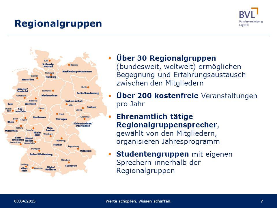 Regionalgruppen  Über 30 Regionalgruppen (bundesweit, weltweit) ermöglichen Begegnung und Erfahrungsaustausch zwischen den Mitgliedern  Über 200 kos
