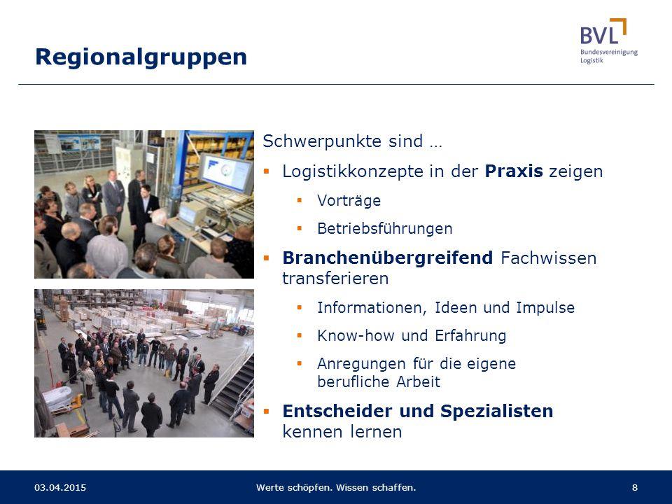 Schwerpunkte sind …  Logistikkonzepte in der Praxis zeigen  Vorträge  Betriebsführungen  Branchenübergreifend Fachwissen transferieren  Informati