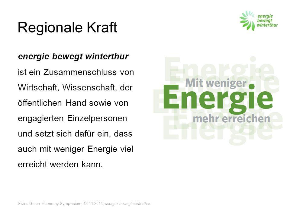 Swiss Green Economy Symposium, 13.11.2014; energie bewegt winterthur Vernetzt