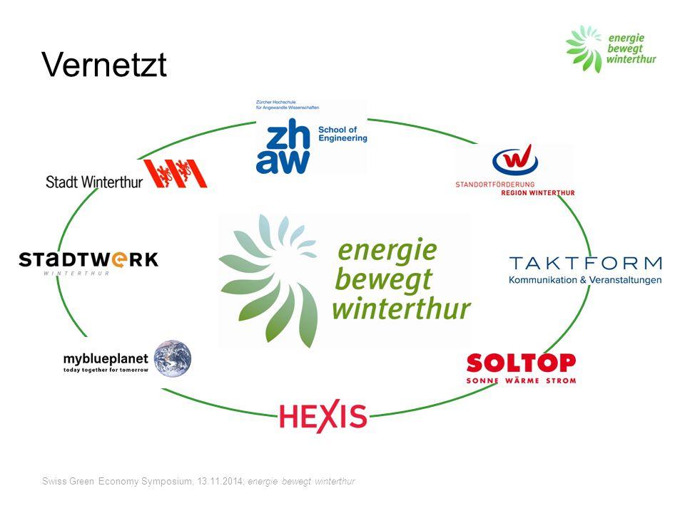 Swiss Green Economy Symposium, 13.11.2014; energie bewegt winterthur ebw.ch