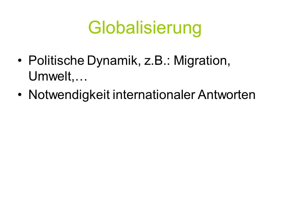 """Global Governance / Weltinnenpolitik Global Governance: Was ist das."