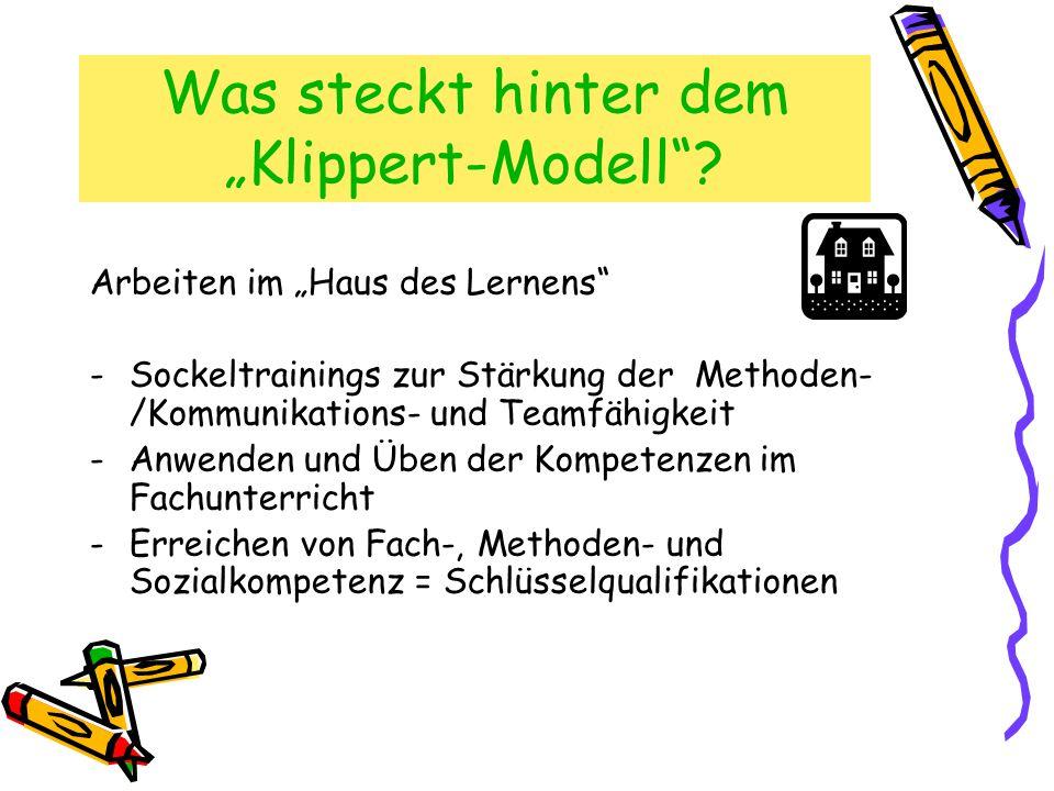"""Was steckt hinter dem """"Klippert-Modell ."""
